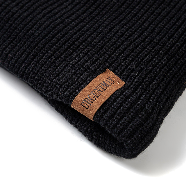 New Unisex Letter Beanie Hat Leisure Add Fur Lined Winter Hats For Men Women Keep Warm Knitted Hat Fashion Solid Ski Bonnet Cap 3