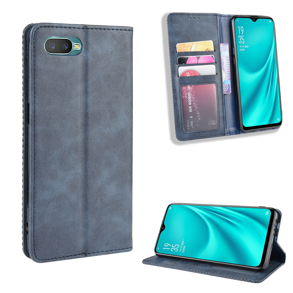 Oppo Reno A Case Oppo RenoA Wallet Flip Style Imprint Skin Leather Phone Back Cover For Oppo Reno A CPH1983 With Photo Frame