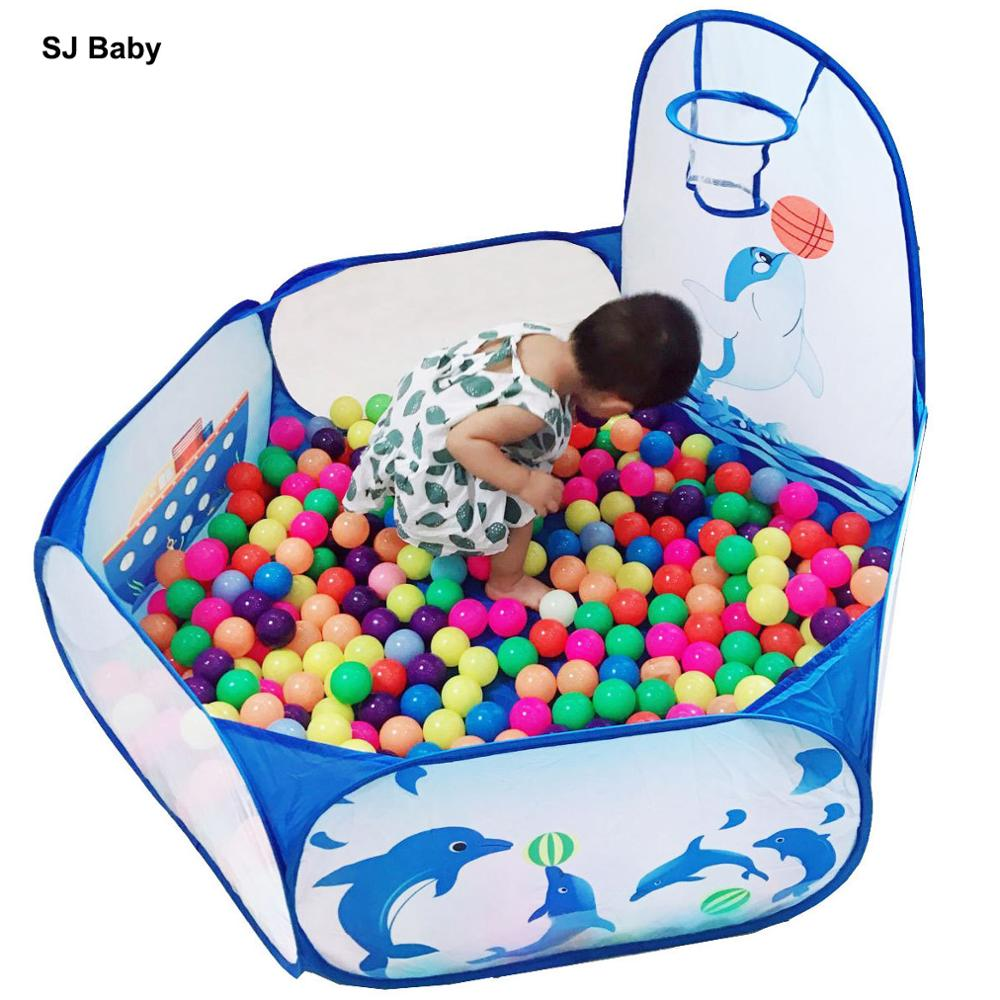 Baby Playpen Portable Foldable Playpens Game Pool Of Balls Pit Child Outdoor Indoor Ball Pool Play Tent Kids Safe For Kids Gifts