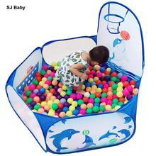 Bebé cuna portátil Corralitos plegables juego PISCINA DE BOLAS de pozo niño interior al aire libre de la piscina tienda seguro para los niños regalos