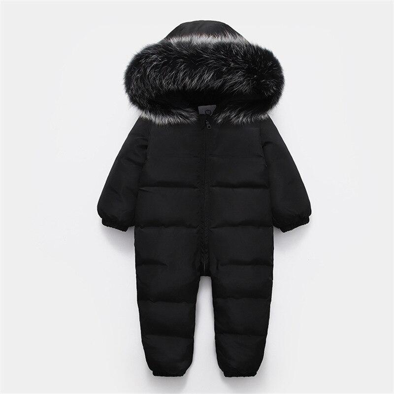 2019 russe hiver bébé onesie barboteuse vêtements costume snowsuit 90% canard doudoune pour filles manteaux Parka infantile garçon vêtements de neige