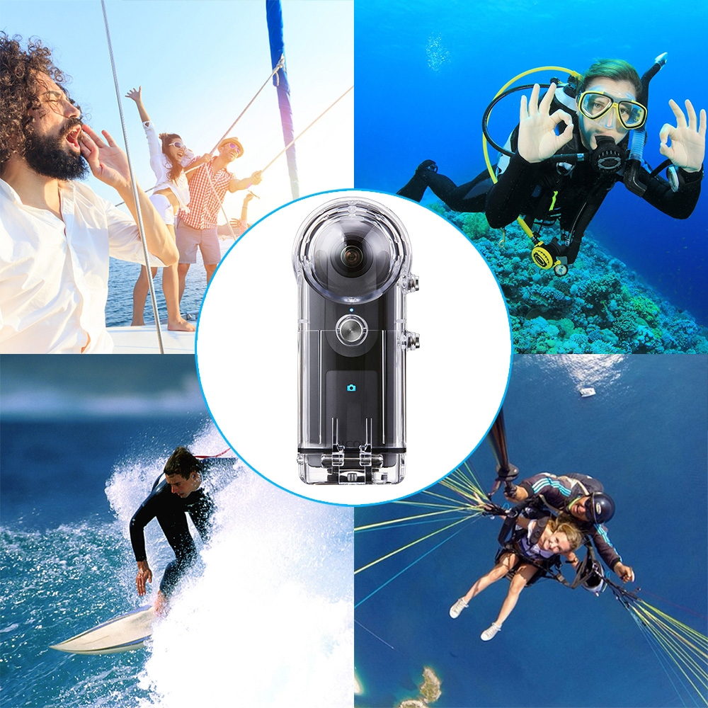 Image 5 - PULUZ 30M Waterproof Case For RICOH Theta V/Theta S & SC360 360 Degree Camera Accessories Housing Case Diving Protective Shell-in Camera/Video Bags from Consumer Electronics