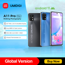 [In Stock] UMIDIGI A11 Pro Max Global Version Android 11 6.8″ FHD+ Display Smartphone 128GB Helio G80 48MP Triple Camera 5150mAh