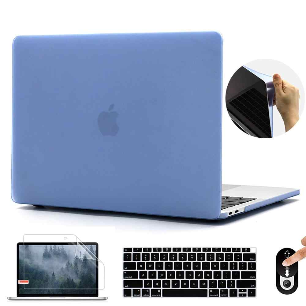 Zacht Plastic Case Shell Cover Voor Macbook Pro 13 16 Inch A2159 A2141 Matte Laptop Case Voor 2020 Macbook Air 13 Inch A2179 A1932