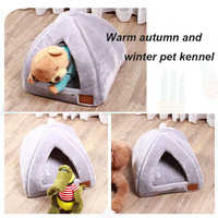 Cat House Mat Dog Beds Family Pet Sleeping Supplies Dog Hole Semi closed Soft Washable Bed for Small Dogs Pets Accessories