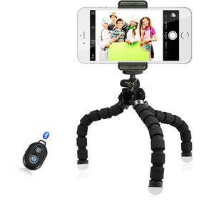 Image 3 - Flexible Mini Stativ Flexible Telefon Stativ Mit E typ Telefon Clip 1/4 schraube loch Kamera mini stativ Für Smartphone & kamera
