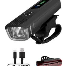 NEWBOLER Smart Induction Bicycle Front Light Set USB Rechargeable Rear Light LED Headlight