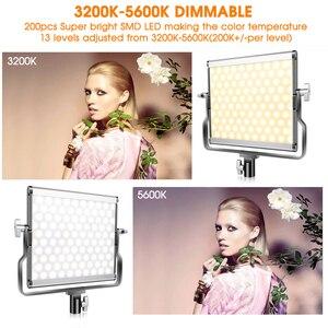 Image 5 - Travor 2 ב 1 דו צבע LED וידאו אור ערכת סטודיו אור עם U סוגר מצלמה אור 3200K 5600K צילום תאורה עבור YouTube
