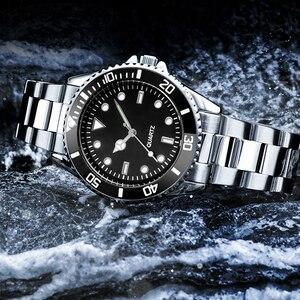 Image 5 - Orologio da uomo con cinturino in acciaio inossidabile 304 orologi da uomo con cornice girevole 40mm Masculino impermeabile