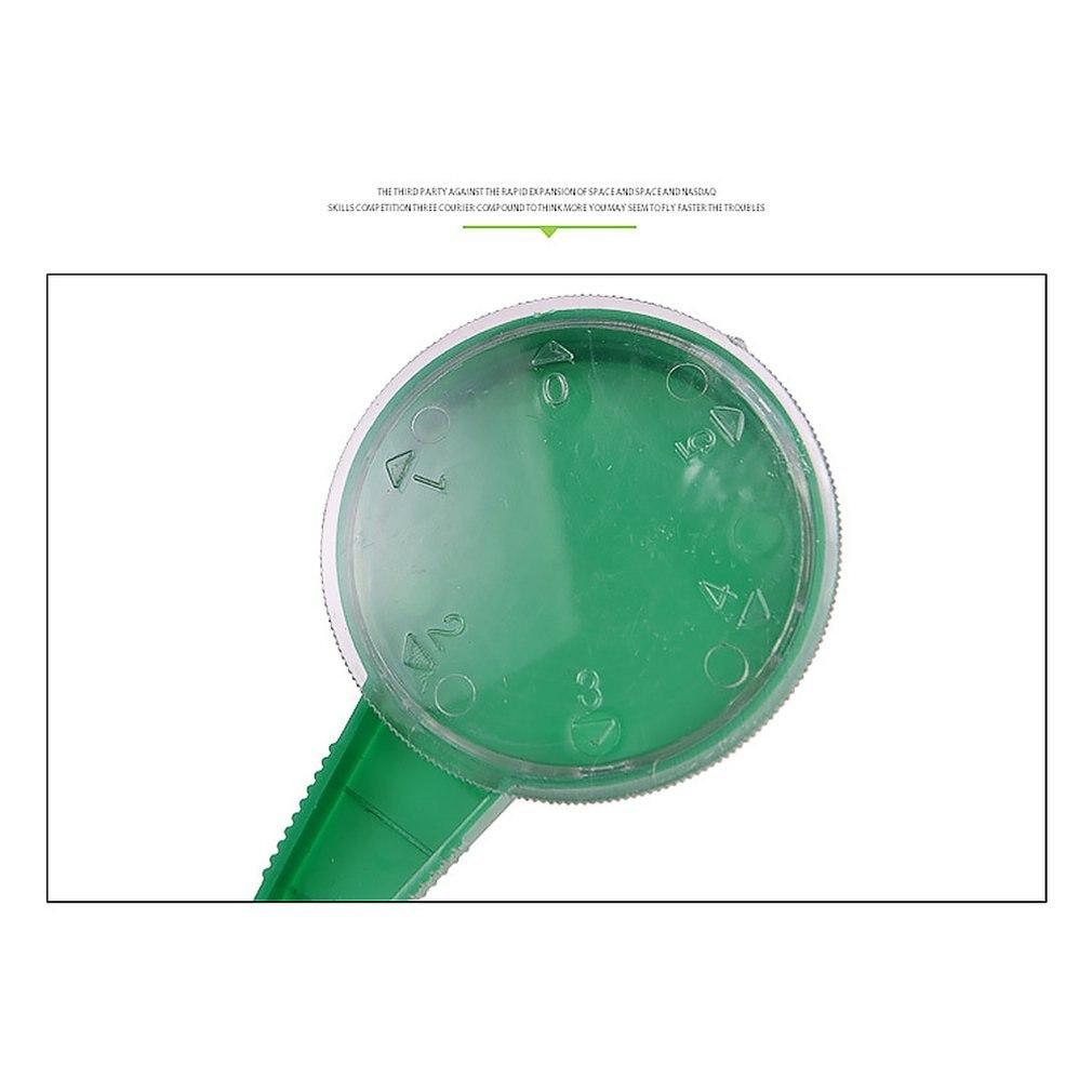 5 в 1 регулируемый размер сеялка циферблат Регулируемый распределитель семян сеялка пластиковый распылитель сельскохозяйственный садовый завод принадлежности инструмент