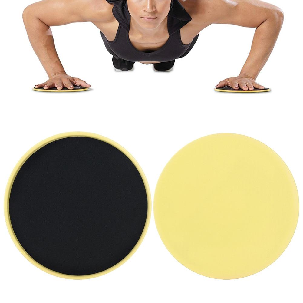 2 Pcs Gliding Discs Slider Fitness Disc Exercise Sliding Plate For Yoga Gym Abdominal Core Training Exercise Equipment