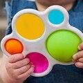 Погремушки для раннего развития младенцев, мягкие силиконовые игрушки для новорожденных, развивающая игрушка для интенсивных тренировок