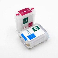 69ML HP82 HP510 CH565A C4911A C4912A pusty kartridż na tusz do ponownego napełniania z Arc chipy do hp Designjet 510 82 drukarka ploterowa
