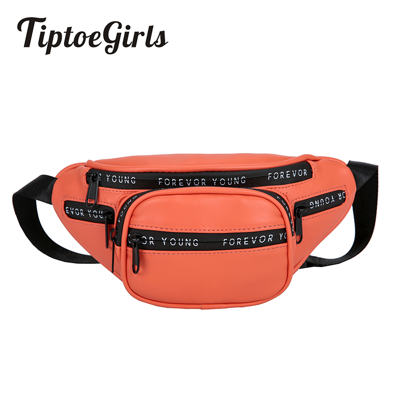 Tiptoegirls Women's Waist Bag Forever Young Printing Bag New High Quality Shoulder Bag Casual Messenger Bag Crossbody Bag