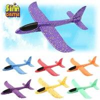 Mão ao ar livre jogando avião 35cm voando lançamento esportes planador aeronaves modelo espuma deslizando meninos divertido jogo figura brinquedos para crianças Aviões de radiocontrole     -