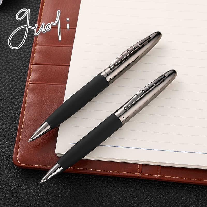 Guoyi C015 yaratıcı deri metal kabuk tükenmez kalem ofis okul kırtasiye hediye kalem otel iş lüks G2 424 kalem