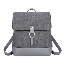 Fashion Women Backpack Shoulder Bags For Youth Girl School Bags High Quality Leather Teenage light Travel Bags Female Bolsa gray
