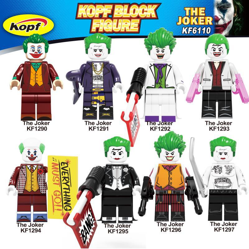 Single Sale KF6110 Joker Figure Movie 2019 Batman DC Super Hero Prisoner Suicide Squad Building Blocks Sets Models Toys