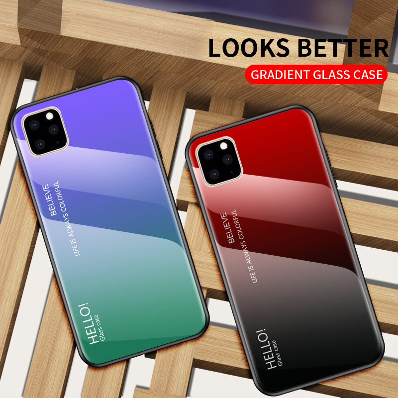 Ollyden Gradient Tempered Glass Cases for iPhone 11/11 Pro/11 Pro Max 3
