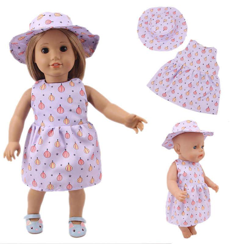 LUCKDOLL الصغيرة الطازجة الأجنبية فستان صالح 18 بوصة الأمريكية 43 سنتيمتر ملابس دمى الطفل اكسسوارات ، الفتيات اللعب ، جيل ، هدية