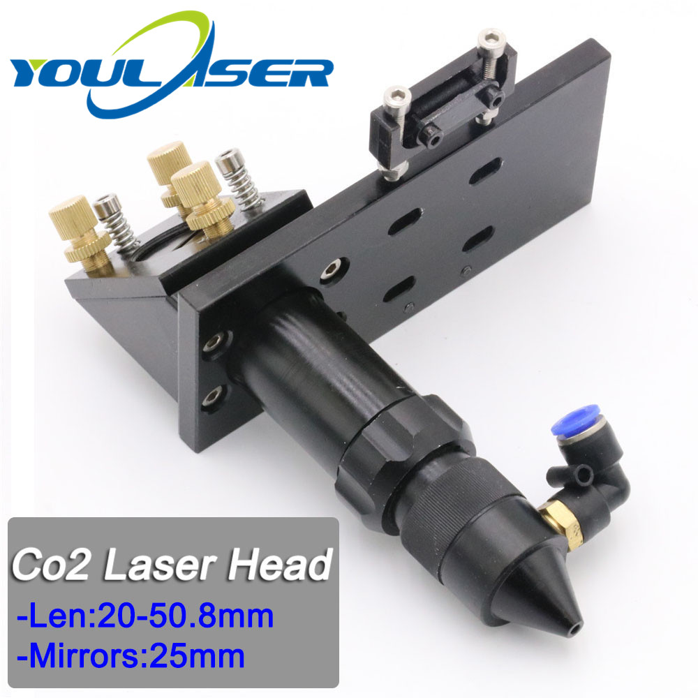 CO2 Laser Head For Focus Lens Dia.20 FL.50.8 & Mirror 25mm Mount With Laser Engraving And Cutting Machine