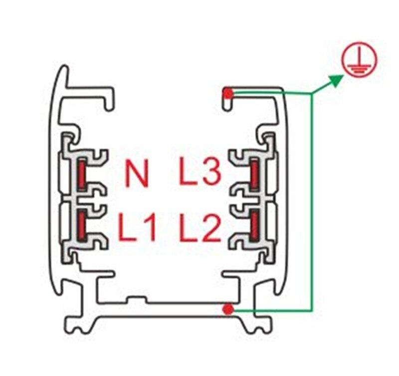 Fanlive 5 pcstrack trilho 3 fase circuito