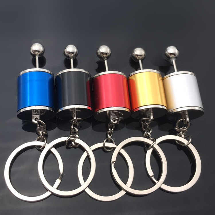 2020  New Hot Car Keychain Six Speed Removable Transmission Gear Shift Gear Shift Knob Gearbox Keyring Men Keyring