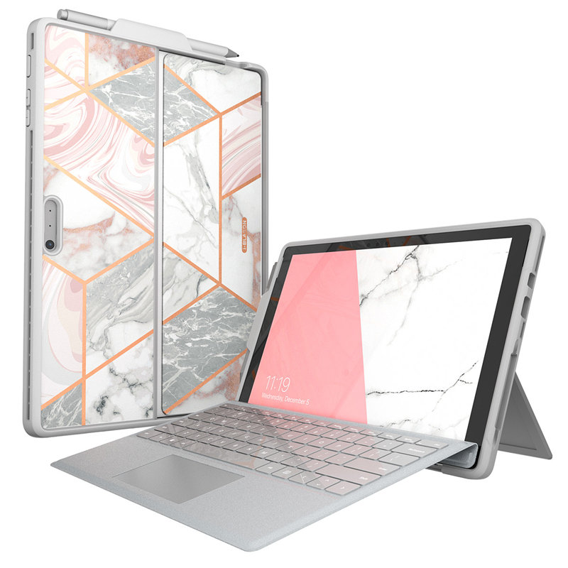 For Microsoft Surface Pro 6/Pro 5/Pro 2017/Pro4/Pro LTE Case I-Blason Cosmo Marble Case With Pen Holder,Compatible With Keyboard