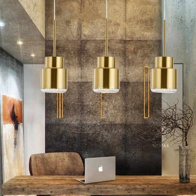 Modern Led Metal Pendant Lights Wrought Iron Glass Round Ball Brass Rod Hanging Lamp For Living Roomcafekitchen Nordic Lighting