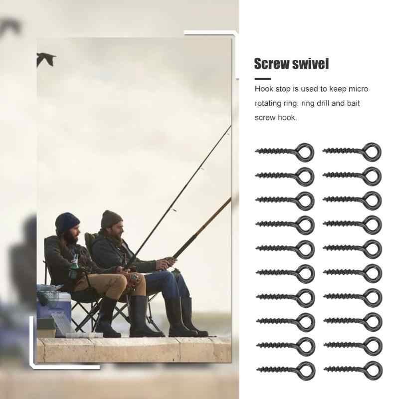 10mm * mm * 5 5 milímetros 20 pçs/set Parafuso de Aço Peg Titular Giratória D-Rig Rig Chöd Terminal Enfrentar Isca Carpa Acessórios De Pesca Preto