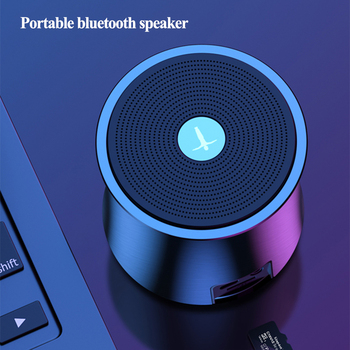 Metal Portable Bluetooth Speaker tws Wireless Bass Outdoor Column Support AUX TF USB Subwoofer Stereo Loudspeaker Music center kiito y24 bluetooth speaker portable outdoor loudspeaker wireless stereo music surround usb tf aux mp3 portable music player