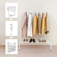 Modern Coat Rack Metal Iron Multi function Furniture Garment Racks Coat Hanger Stand Shoes Storage Clothes Rack Clothing Rack