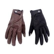 Мотоциклетные осенние винтажные кожаные гоночные перчатки для