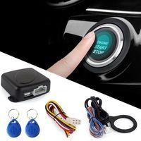 스마트 RFID 자동차 경보 시스템 푸시 엔진 시작 중지 버튼 잠금 점화 Immobilizer 원격 키없는 이동 항목 시스템 12V