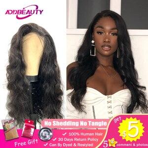Волнистые человеческие волосы для чернокожих женщин, индивидуальный парик с закрытием шнурка 13x4, кружевной фронтальный парик 150% предварит...