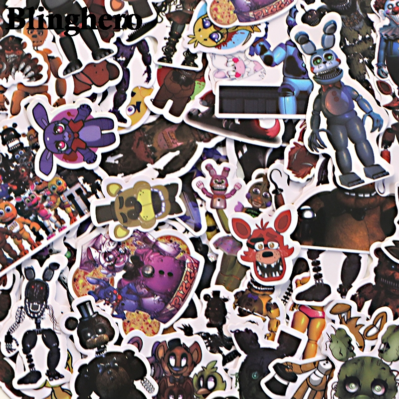 CA672 58pcs/set Five Nights at Freddy's kids diy 90s art print notebook cellphone laptop scrapbooking album decals sticker image