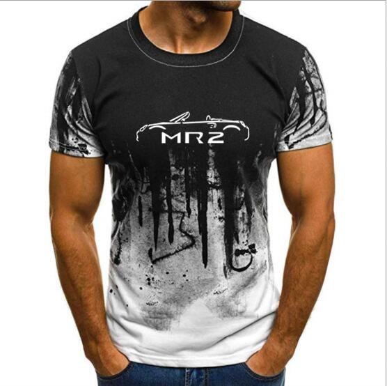 Men's T shirts Print T-shirt Summer  TOYOTA MR2 MK3 INSPIRED CLASSIC CAR T-SHIRT Camouflage Short Sleeve tshirt