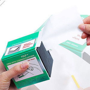 Image 5 - 280 יח\קופסא סיבי ניקוי כלי Dustfree נייר סיבים אופטי נמוך מוך מגבונים נמוך אבק ניגוב נייר, סיבי נקי נייר, FTTH כלים