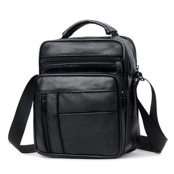 Weysfor Fashion Crossbody Leather Business Man Messenger Bag Big Size Split Leather Shoulder Bags Zipper Handbags Tote Bag Male 2018 new products women bag split leather fashion smile bag shoulder bags messenger bags woman handbags trapeze bags