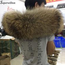 Col en vraie fourrure dhiver, grande mode 100%, fourrure de raton laveur naturelle pour femmes, écharpe de luxe, manteau, Parka, 60cm 70cm #22