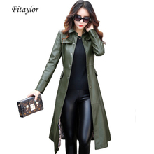 Outerwear Trench Plus-Size Coats Jacket Fitaylor Women Ladies New 5XL Long with BELTED