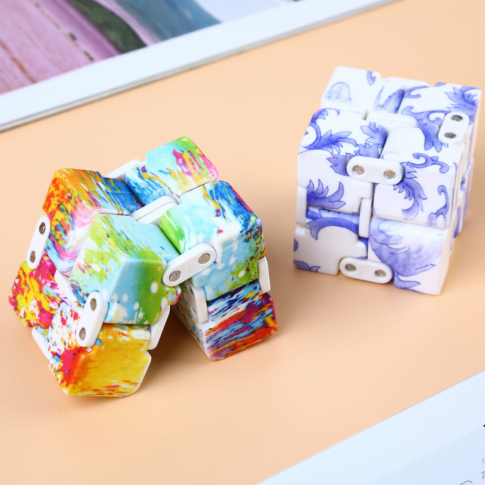 Clearance Sale Infinity Cube Finger Game EDC Toy Stress Reliever Autism Relax Toy Christmas Gift For Adults Kids Children