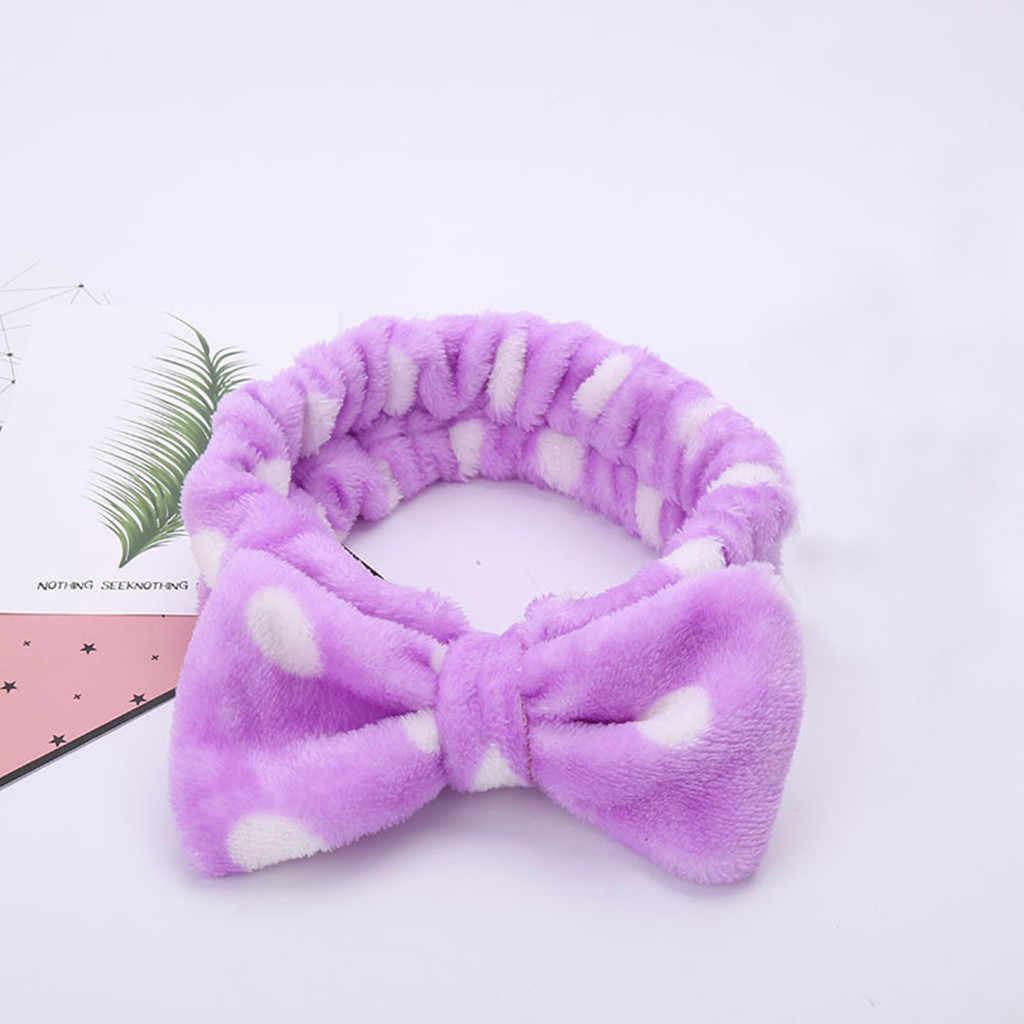Banda elástica para el cabello para mujer, con nudo de moño, accesorios para el cabello bonitos, para mujer, maquillaje trenzado, diadema elástica, nueva