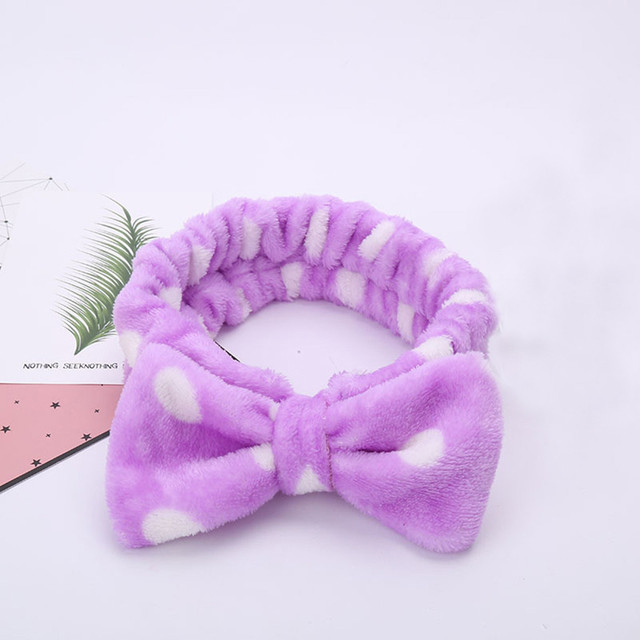 Women Elastic Hairband Band Bow-Knot Cute Head Lovely Hair Accessories Ladies Twisted Lady makeup headband
