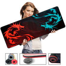 700*300mm Red Dragon Series High Speed Large Gaming Lockedge Mouse Keyboard Mat Anti slip Natural Rubber Computer Game Mouse Pad