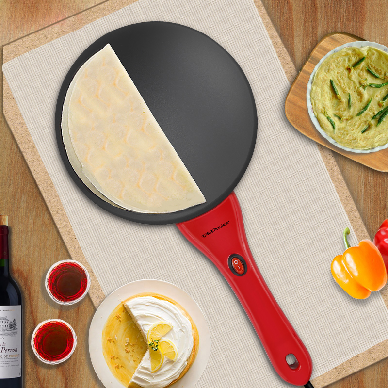 Máquina de Pizza eléctrica para hornear Pan panqueque maceta sándwich fabricante hogar Bo pastel primavera rollo pequeño panqueque - 2