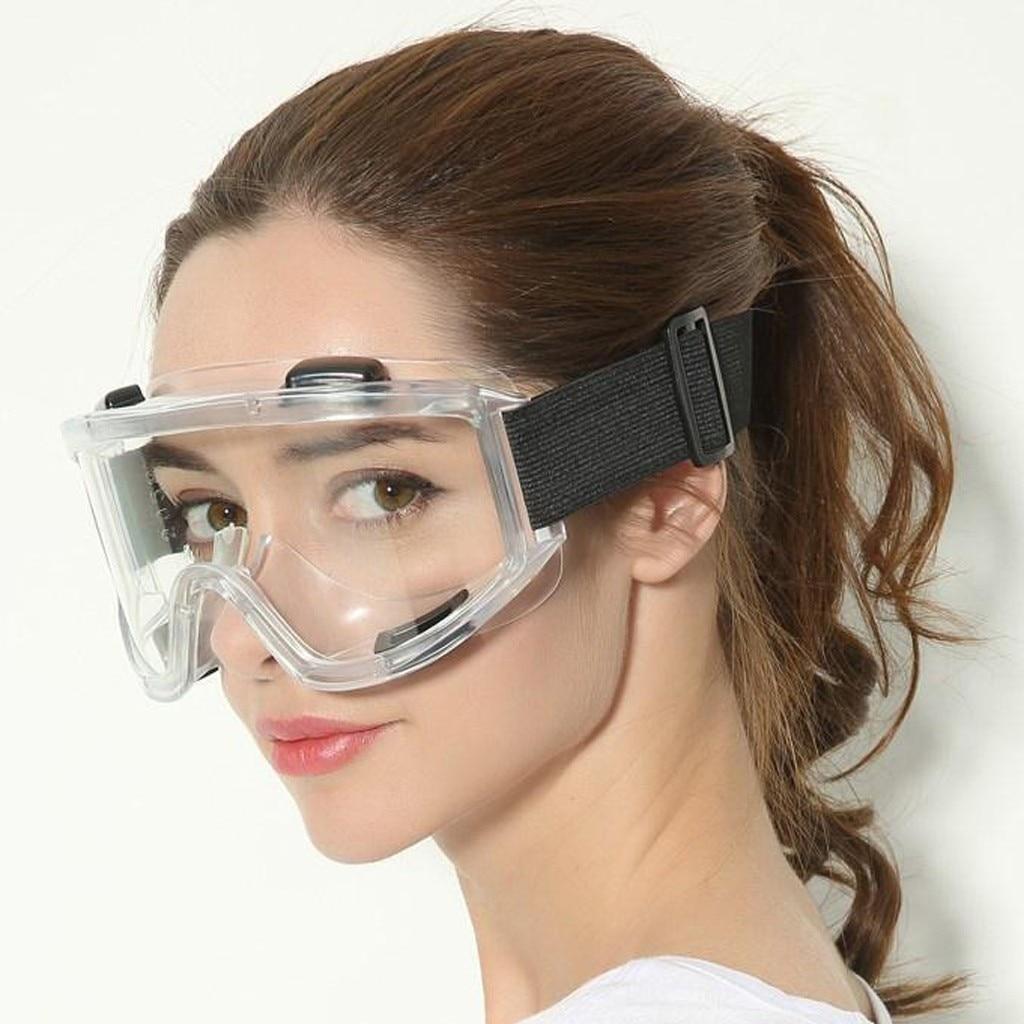 Men Women Windproof Glasses Safety Protective Sand Anti-impact Anti-fog Anti-spatter Outdoor Anti-splash Aoggle Transparent #T5P