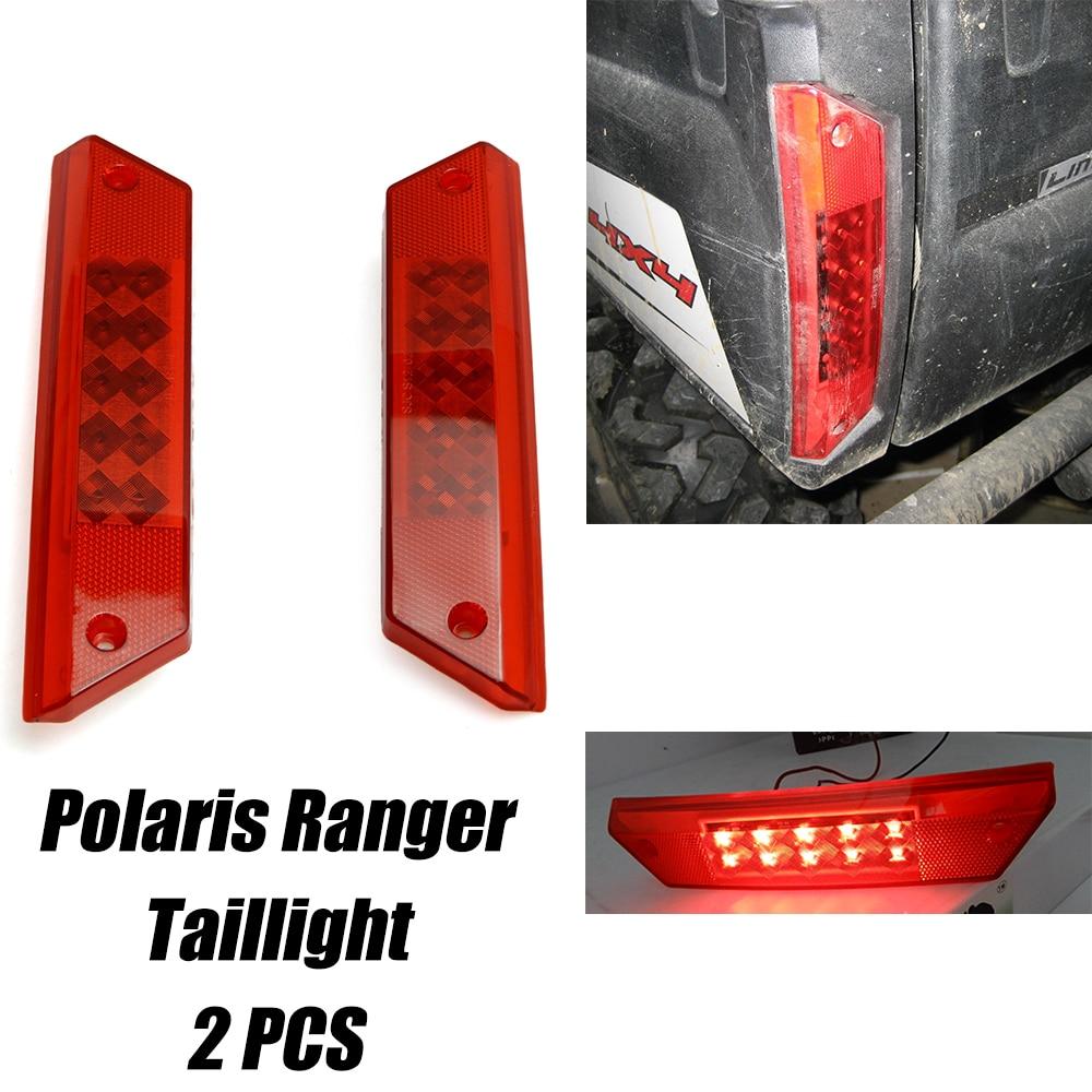 KEMiMOTO 2PCS Tail Light For Left Or Right Side For Polaris Ranger 900 Diesel 500 700 800 2010-2014 2011 2012 2013