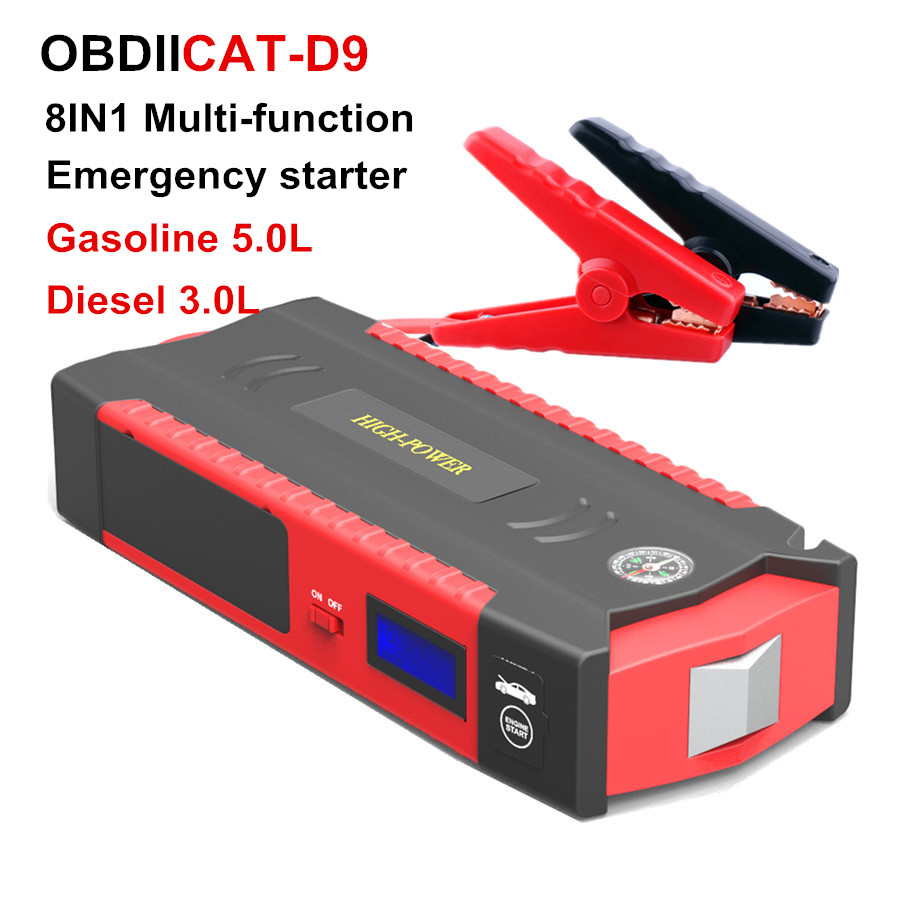 Charger Car-Battery-Booster Power-Bank Jump-Starter Petrol Portable Diesel 12v-Starting-Device title=