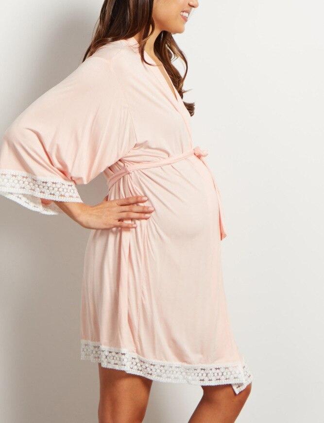 maternidade Amamentação Vestido de Trabalho Entrega Robe